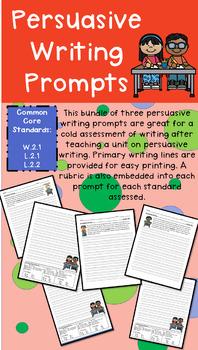 Grade 2 Persuasive Writing Prompts