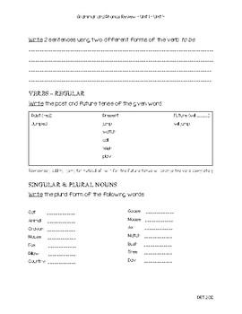 Grade 2 Phonics & Grammar Revew