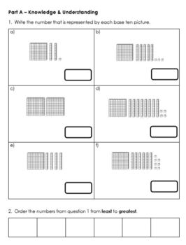 Grade 2 Place Value Test - 2 Digit Numbers