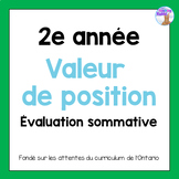 Grade 2 Place Value Test (French)