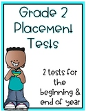 Distance Learning 2nd Grade Placement Test Beginning and E