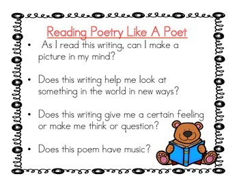 Grade 2 Poetry Writing Posters