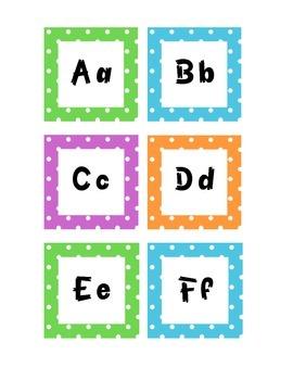 Grade 2 Polka Dots WORD WALL / MUR DE MOTS - FRENCH