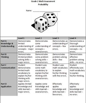 Grade 2 Probability Assessment