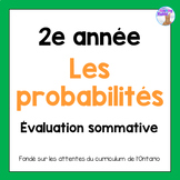Grade 2 Probability Test (French)