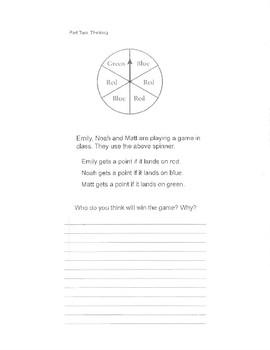 Grade 2 Probability Test (Ontario)