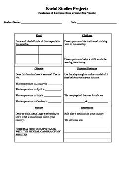 Grade 2 Project Social Studies
