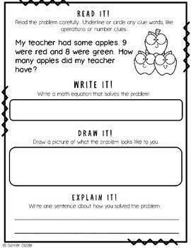Grade 2-Set 1-Read It! Write It! Draw It! Explain It! - Addition & Subtraction