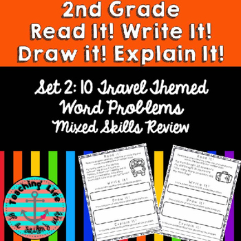 Grade 2-Set 2-Read It! Write It! Draw It! Explain It! - Mixed Skills