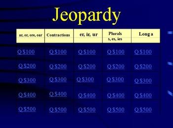 Grade 2 Reading Street Phonics Review Jeopardy (Units 1-6)