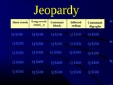 Grade 2 Reading Street Unit 1 Phonics Review Jeopardy