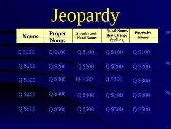 Grade 2 Reading Street Unit 2 Grammar Review Jeopardy