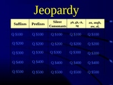 Grade 2 Reading Street Unit 5 Phonics Review Jeopardy