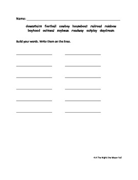 Grade 2 Reading Street Word Work Sheets