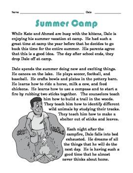 Grade 2 Common Core Reading: Summer Camp