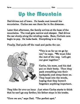 Grade 2 Common Core Reading: Up the Mountain