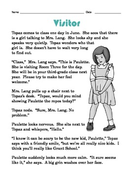 Grade 2 Common Core Reading: Visitor