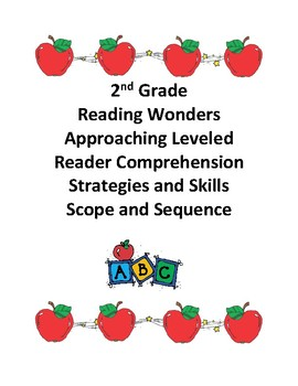 Reading Wonders Grade 2 Approaching Level Comprehension Scope and Sequence