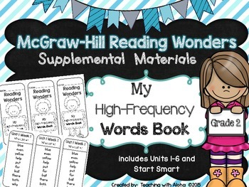 Grade 2 Reading Wonders High Frequency Words {My High-Frequency Words Book}