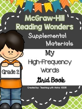 Grade 2 Reading Wonders High Frequency Words {My High-Freq