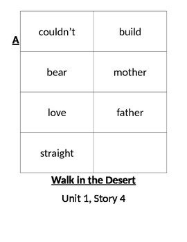Grade 2 SF Reading Street High Frequency Word Cards ALL stories