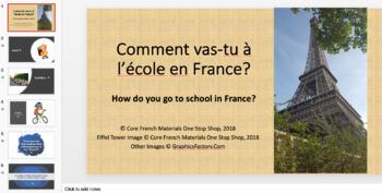 Grade 2 (SK Level 1) Core French School Transportation Unit Bundle