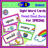 Grade 2: SPRING Dolch Sight Word Cards/Pocket Chart Game