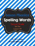 Grade 2 Saxon Phonics Spelling Lists Lessons 1-34