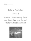 Grade 2 Science Air and Water in the Environment Test (Ontario)