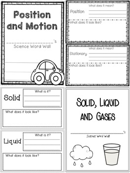 Grade 2 Science - Personal Word Wall BUNDLE