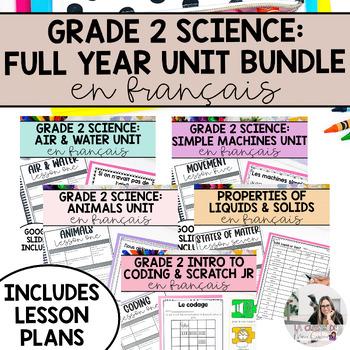 Grade 2 Science Unit Bundle (French Version)