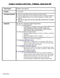 NY Grade 2 Science Unit Plan - Pebbles, Sand and Silt