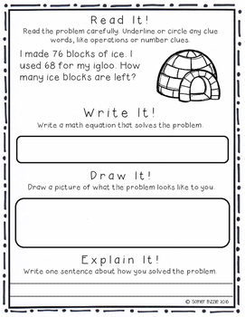 Grade 2-Set 10-Read It! Write It! Draw It! Explain It! - Winter