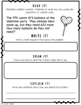 Grade 2-Set 11-Read It! Write It! Draw It! Explain It! - Valentine's Day