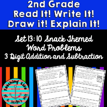 Grade 2-Set 13-Read It! Write It! Draw It! Explain It! - 3 Digit Add & Subtract