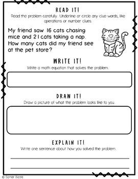 Grade 2 - Read It! Write It! Draw It! Explain It! *Bundle* for the Whole Year!