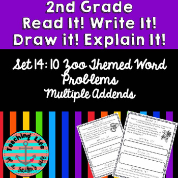 Grade 2-Set 14-Read It! Write It! Draw It! Explain It! - Multiple Addends