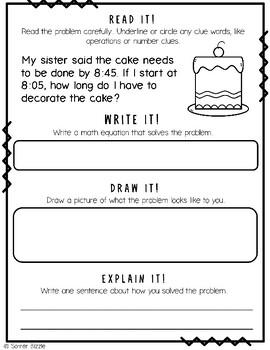 Grade 2-Set 16-Read It! Write It! Draw It! Explain It! - Elapsed Time