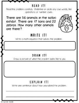 Grade 2-Set 3-Read It! Write It! Draw It! Explain It! - Multiple Step