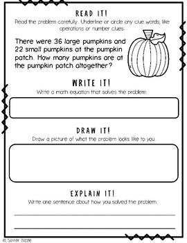 Grade 2-Set 4-Read It! Write It! Draw It! Explain It! - Halloween