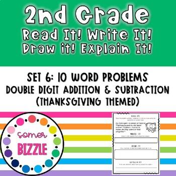 Grade 2-Set 6-Read It! Write It! Draw It! Explain It! - Thanksgiving