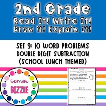 Grade 2-Set 9-Read It! Write It! Draw It! Explain It! - 2 Digit Subtraction