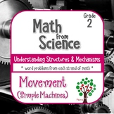 Word Problems from Science: Simple Machines (Movement) Grade 2