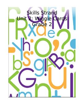 Grade 2 Skills Strand Unit 2 Wiggle Card Spinner
