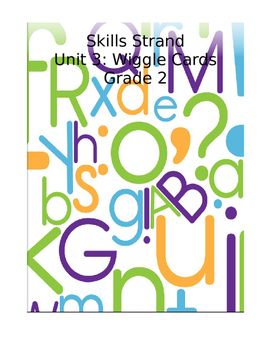 Grade 2 Skills Strand Unit 3 Wiggle Card Spinner