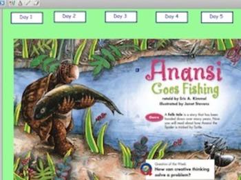 Grade 2 | Smartboard Lesson | Reading Street | 3.3 Anansi Goes Fishing