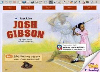 Grade 2 | Smartboard Lesson | Reading Street | Unit 6.1 | Just Like Josh Gibson