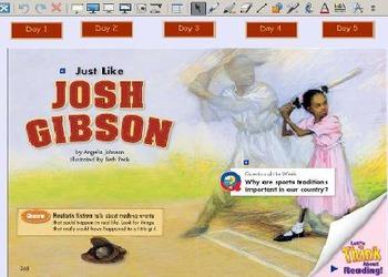 Grade 2 | Smartboard Lesson | Reading Street | Unit 6.1 | Just Like Josh Gibson