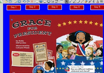 Grade 2 | Smartboard Lesson | Reading Street | Unit 6.5 | Grace for President