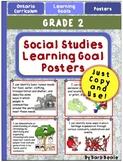 Grade 2 Social Studies Learning Goal Posters - Ontario Curriculum